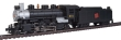 BACH51524 - HO Scale Prairie 2-6-2 and Tender with Smoke and Headlight - CN #613