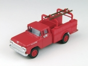 1:87 Scale - '60 Ford Utility Truck - Monte Carlo Red