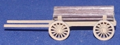 1:87 Scale - Wood Carrying Horse Drawn Wagon - Kit
