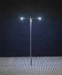 FALL180203 - HO Scale - Pole-Mast Double-Arm LED Street Light