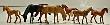 MODE5776 - HO Scale - Horses