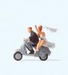 PREI28150 - HO Scale - Wedding Couple On Vespa
