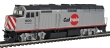WALT910-9457 - HO Scale - EMD F40PH Locomotive - Caltrain (San Francisco) #900