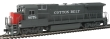 WALT910-9555 - HO Scale - GE Dash 8-40B Locomotive - Cotton Belt #8078