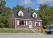 WALT933-3774 - HO Scale - Brick Cape Cod House
