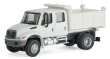 WALT949-11634 - 1:87 Scale - International 4300 Crew Cab Dump Truck- White With Railroad Decals