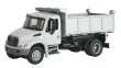 WALT949-11635 - 1:87 Scale - International 4300 Single-Axle Dump Truck - White with Railroad Decal