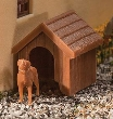 WALT949-4147 - HO Scale - Dog and Kennel