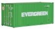 WALT949-8002 - HO Scale - 20' Rib Side Container - Evergreen