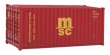 WALT949-8059 - HO Scale 20' Fully Corrugated Container - MSC