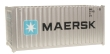 WALT949-8060 - HO Scale 20' Fully Corrugated Container - Maersk