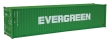 WALT949-8258 - HO Scale - 40' Hi-Cube Corrugated Container - Evergreen