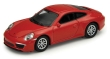 WELL30000095 - 1:87 Scale - Porsche 911 Carrera S - Red